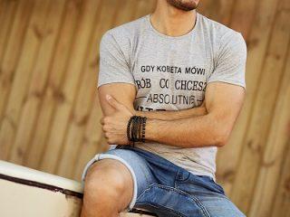 męskie t-shirty z nadrukiem