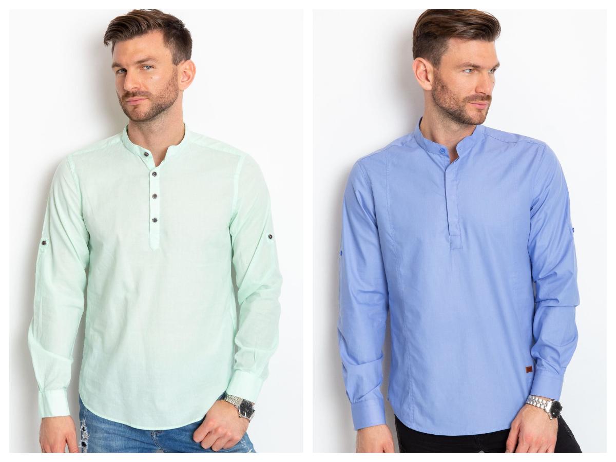 Męskie stylizacje do pracy gładka koszula